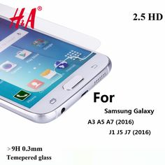 9H 0.3MM Tempered Glass for Samsung Galaxy A3 A5 A7 Transparent Screen Protector For Samsung J1 J5 J7  Protective film