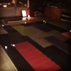 Setting the mood here at the market for our first Yoga Class  #yogaonthefarm #namasteveggies