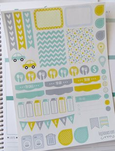 Weekly chores list >> Sunshine Weekly Spread Planner Stickers for Erin by KGPlanner