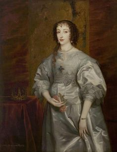 Queen Henrietta Maria (1609–1669) after Sir Anthonis van Dyck (Warwick Shire Hall)