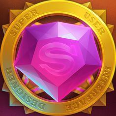 超级视觉设计师(Super User Interface Designer)|UI|游戏UI|1181475817 - 原创作品 - 站酷 (ZCOOL) Game Icon Design, Pirate Treasure Maps, Game Gem, Ui Elements, Game Concept, 2d Art, App Design, Badge, Objects