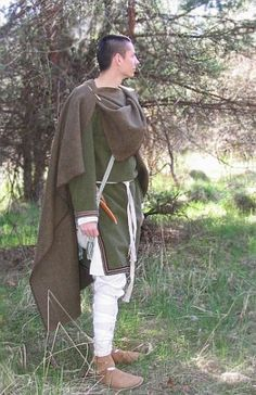 Cloak from Moravia Magna, made of wool belongs to 9th century. Is is hand sewn