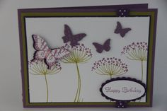 stampin up easter cards using secret garden | Summer Silhouettes & Papillon Potpourri Stamps Beautiful Wings ...