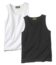 Lot De 2 Débardeurs Confort Coton : http://www.atlasformen.fr/products/grandes-tailles/lot-de-2-debardeurs-confort-coton/14942.aspx