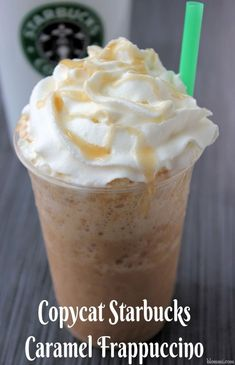 Try this copycat Starbucks Caramel Frappuccino recipe at home and let me know what you think. Craving a Caramel Frappuccino, but sometimes you just can't get out to the Starbucks? Keep these supplies on hand Copycat Starbucks Caramel Frappuccino Recipe, Frappuccino Recipe At Home, Caramel Frappe Recipe, Frappuccino Recipe Without Coffee, Frappachino Recipe, Carmel Frappe, Smoothie Drinks, Smoothie Recipes, Smoothies