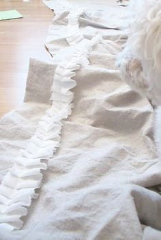 How to add ruffles to everything! Now I know just what to do with the ruffle pillows I want to make for the family room!