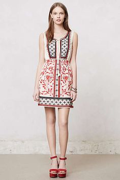 Anthropologie - Kasi #Embroidered Dress #boho