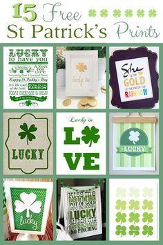 15 Free Saint Patrick's Day Prints St Patricks Day Crafts For Kids, St Patrick's Day Crafts, Holiday Crafts, Holiday Fun, Diy St Patricks Day Decor, Holiday Ideas, Holiday Decor, St. Patrick's Day Diy, St Patricks Day Food