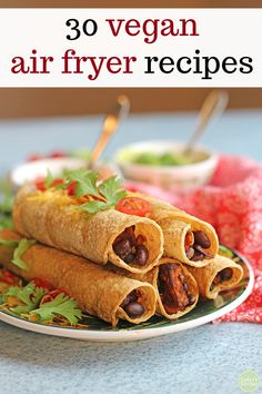 Baked taquitos stuffed with sweet potatoes & black beans. Cook them in the oven or air fryer. Air Fryer Recipes, Vegan Gluten Free, Vegan Vegetarian, Paleo, Vegan Chili, Raw Vegan, Baked Taquitos, Cooking Sweet Potatoes, Oven Potatoes
