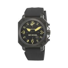 Mens' Wrist Armor U.S. Marine Corps C4 Swiss Quartz Watch ($275) ❤ liked on Polyvore featuring men's fashion, men's jewelry, men's watches, black, mens watches jewelry, mens watches, mens black face watches, mens water resistant watches and mens stainless steel watches