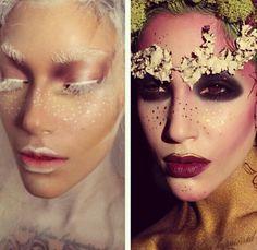 Fantasy editorial makeup snow white queen mother earth fairy