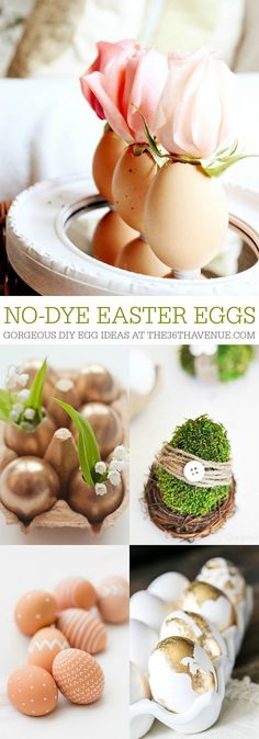 No Dye Easter Egg Tutorials – This list of DIY Easter eggs includes plenty of mess-free and kid-friendly options that are equally gorgeous to display for the holiday // via The Avenue Easter Egg Dye, Hoppy Easter, Easter Party, Easter Bunny, Creation Deco, Festa Party, Easter Activities, Easter Celebration, Easter Holidays