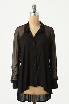 Pizzo Buttondown - front---Bordeaux anthropologie.com