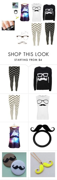 """moustache"" by kiss0 ❤ liked on Polyvore featuring WearAll and Tatty Devine"