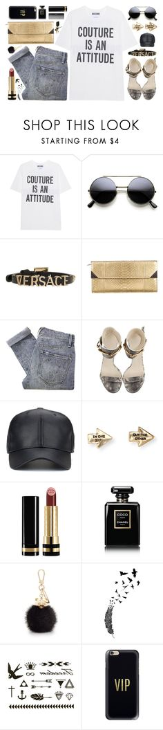 """""""~Couture is an Attitude~"""" by amethyst0818 ❤ liked on Polyvore featuring Moschino, Sephora Collection, Versace, Barbara Bui, Marc by Marc Jacobs, Gucci, Aéropostale, Chanel, Furla and Casetify"""