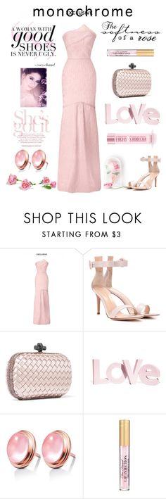 """Rose"" by sukia ❤ liked on Polyvore featuring Roland Mouret, Gianvito Rossi, Bottega Veneta, H&M and Victoria's Secret"