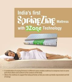 #Refresh is here to thrill you with it's 3-zone technology.  Wherein you not only get the benefit of sleeping on an intelligent mattress but also #comfort of a cozy one that embraces your body contours just like you want it to.   Shop here: http://www.refreshmattress.com/products/mattress/spring-zing-mattress.html