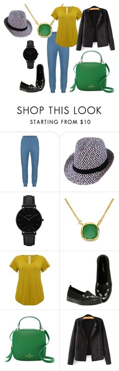 """Outfit #43"" by allieemet on Polyvore featuring Vincenzo Allocca, CLUSE, BillyTheTree, M&Co, Kate Spade and plus size clothing"