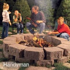 Build this simple, attractive fire ring with retaining wall stone surrounded by flagstone, creating the perfect spot for cookouts, family gatherings and casual conversation. We'll show you how to build the fire ring so it's safe and durable, so you can enjoy relaxing fires year after year.