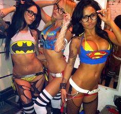 halloween super Costume heroes slutty