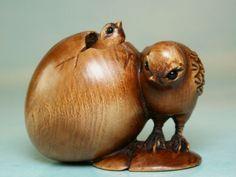 Bird Egg Moving Chick Gorgeous Netsuke UKW250 | eBay