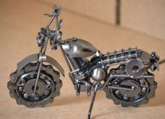 Handmade 19 cm Metal Motorcycle Bike Wall by MetalDecorative4You, $30.00