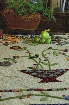 Cherry Basket Bouquet Quilt Pattern Pieced/Applique CM