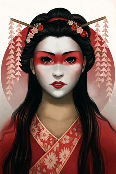 """Amaterasu by Danielle Sylvan Printed on 12""""x18"""" glossy 80lb cover stock. Shipped in a poster tube."""
