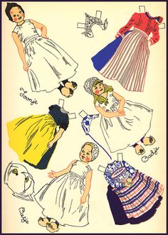 Dutch girl paper doll - Julia Nordell