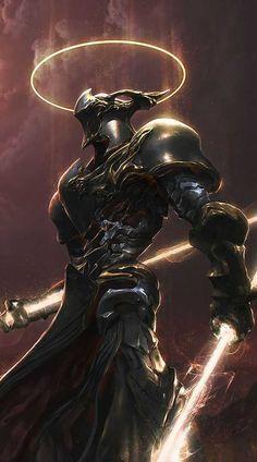 WEBSTA @ huizo_art - Warrior from heaven Fantasy Character Design, Character Design Inspiration, Character Concept, Character Art, Fantasy Armor, Dark Fantasy Art, Dark Art, Armor Concept, Concept Art