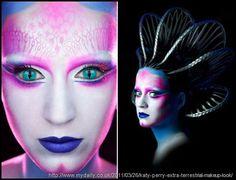 Katy Perry alien makeup