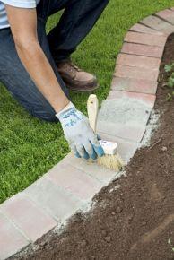 14 Innovative Garden Edging Ideas on The Cheap Brick Edging Lawn And Garden, Garden Beds, Garden Paths, Diy Garden, Garden Fencing, Wooden Garden, Glow Garden, Cement Garden, Garden Cart