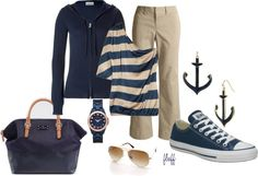 """""""navy nautical"""" by fluffof5 on Polyvore"""