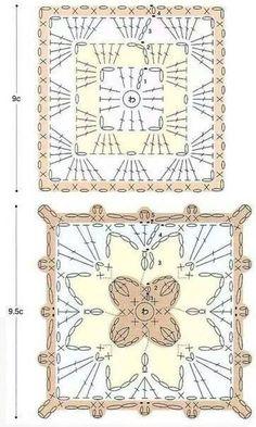 Transcendent Crochet a Solid Granny Square Ideas. Inconceivable Crochet a Solid Granny Square Ideas. Crochet Squares, Granny Square Crochet Pattern, Crochet Blocks, Crochet Diagram, Crochet Chart, Crochet Granny, Crochet Symbols, Crochet Motifs, Crochet Stitches Patterns