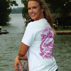 """Our """"I Feel Pretty"""" Oh So Pretty tee is now available in light blue for Spring! #southerncrossapparelgirls #southerncrossapparel"""