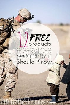 Discounts are great, but who doesn't love getting a product or service for free? Many businesses pride themselves on their military discounts, but some offer products or services that are free for active military personnel and their families. Military Girlfriend, Army Mom, Military Spouse, Military Personnel, Military Families, Army Husband, Military Relationships, Navy Military, Army Boyfriend