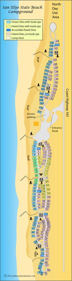 San Elijo State Beach Campground cvamp, San Diego County, CA