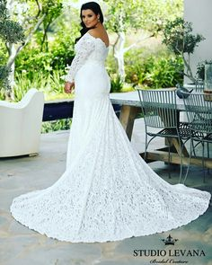 Plus size wedding dress should be feminine and super flattering, just as Lida from Studio Levana