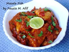 Completely South African and absolutely delicious to boot - Masala Fish. Tangy fish in a spicy, thick and delicious masala/gravy. Ideally served with boiled white rice or naan bread. Curry Recipes, Fish Recipes, Seafood Recipes, Mexican Food Recipes, Cooking Recipes, Healthy Recipes, Maggi Recipes, Recipies, Meat Recipes