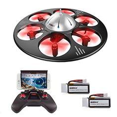 UDI U845 WIFI FPV Drohne mit HD Kamera 6-Kanal UFO 360° Flip Funktion Quadrocopter Drone Kopflosmodus Gravität Induktion  http://amzn.to/2qkND7B