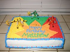 another less complicated one Power Rangers Cake