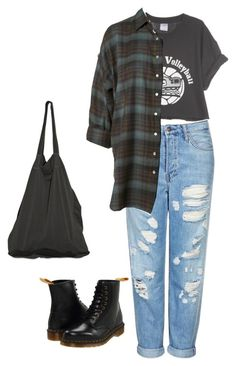 """lol"" by aliennbby on Polyvore featuring Topshop, Dr. Martens, Laneus, women's clothing, women, female, woman, misses and juniors"