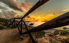 Обои sunrise, beach, landscape, море, sunset, океан, солнце, sky, scenery, природа, sun, ocean, sand, рассвет, небо, ...