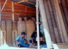 Sarawak rattan mats at the border market of Serikin in Sarawak by Awang #travel #asia #malaysia #sarawak