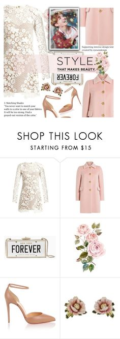 """""""Untitled #2201"""" by anarita11 ❤ liked on Polyvore featuring self-portrait, RED Valentino, Kate Spade, Christian Louboutin, Les Néréides and bts"""