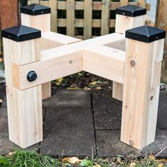 Elevate your rain barrels to get the proper water flow to your garden! Build this simple rain barrel stand with these free woodworking plans and tutorial! Rain barrels are a great way to save water
