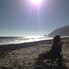 On the sand in Malibu