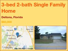 3-bed 2-bath Single Family Home in Deltona, Florida ►$60,000 #PropertyForSale #RealEstate #Florida