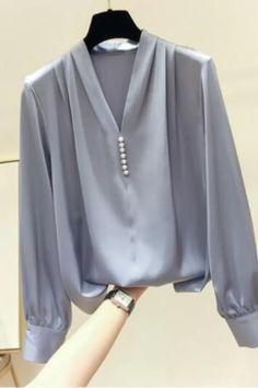Chiffon Blouses, Chiffon Shirt, Shirt Blouses, Shirts, Sexy Blouse, Autumn Style, Sleeve Styles, Blouses For Women, Fall Outfits