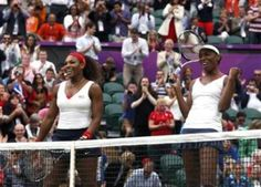 Serena and Venus Williams retained the Olympic tennis women's doubles gold with a 6-4 6-4 win over Czech duo Andrea Hlavackova and Lucie Hradecka